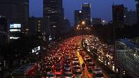 Jakarta traffic jam