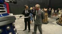 Prince Charles coming face to face with a Dalek