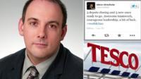Robert Halfon and the Tesco director's tweet