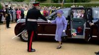 The Queen arrives at Abbotsford House