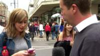 Graham Satchell attempting to interview someone texting