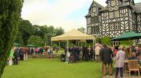 Antiques Roadshow being filmed at Gregynog Hall