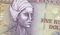 Image de Nanny sur le billet de banque de 500 $ de la Jamaïque