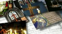 Religious images montage