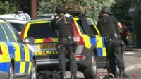 Armed police at Kidlington