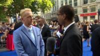 Lizo Mzimba speaking to Simon Pegg