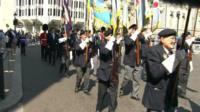 Veterans march in London