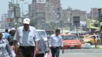 Busy street in Ismailia