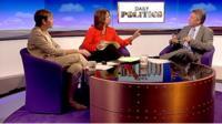 Caroline Lucas, Jo Coburn and Neil Wallis