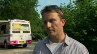 Man by ice-cream van