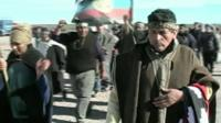 Members of the Mapuche community protesting in southern Argentina