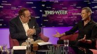 Andrew Neil and Uri Geller