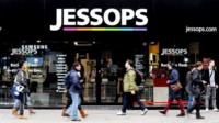 A general view of the Jessops store on Oxford Street