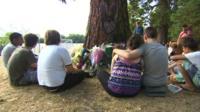 Classmates of Martha Fernback gather at Hinksey Park