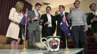 Australians toast the arrival of the royal baby
