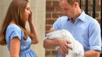The Duke and Duchess of Cambridge with their son