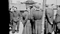 Footage from inside a WWII POW camp