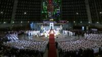 Mass at Metropolitan Cathedral of San Sebastian