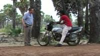Former asylum seeker on motor bike