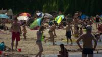 Germans on the beach in Berlin