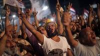 Supporters of former President Mohammed Morsi