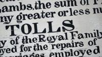 Historic newspaper text