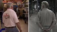 Factory owner pictured with staff in 2013, and in empty warehouse in 2009