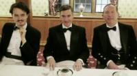 Jacob Rees-Mogg (c) at Traditional Britain Group dinner