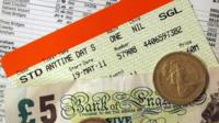 Money and rail tickets