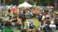 Music festival crowd scene