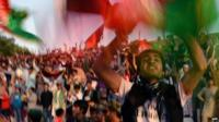 Afghans celebrate victory in Kabul