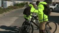 Men with bikes in SA