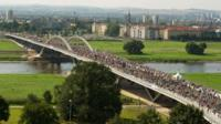 The controversial Waldschloesschen bridge