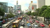 car jam in central Bangkok