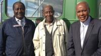 Three of the men who were instrumental in the Bristol bus boycott of 1963