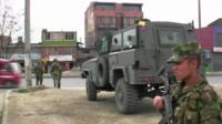 Troops in Bogota