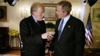 Sir David Frost with Goerge Bush