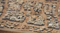 An aerial view shows the Zaatari refugee camp, near the Jordanian city of Mafraq July 18,