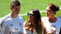 Gareth Bale and his family