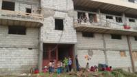 The building where Abu Abdo and his family have found refuge