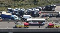 A general view of the Sheppey crash