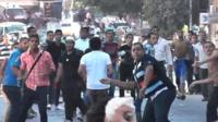 Street clashes in Alexandria, Egypt