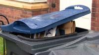 A full wheelie bin