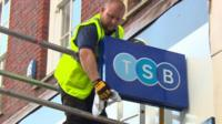 TSB sign being unveiled