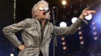 Bob Geldof of the Boomtown Rats performing at the Isle of Wight Festival in 2013