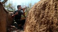 Syrian opposition fighter in Damascus