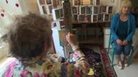 Artist Grahame Hurd-Wood paints St David's resident Joanna Sime