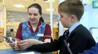 Child undergoes hospital treatment