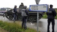 Armed police in Austria