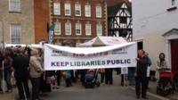 Lincoln libraries protest